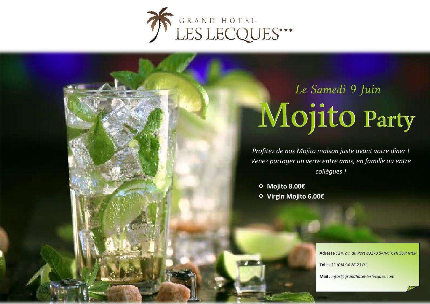 Mojito Party le Samedi 9 Juin