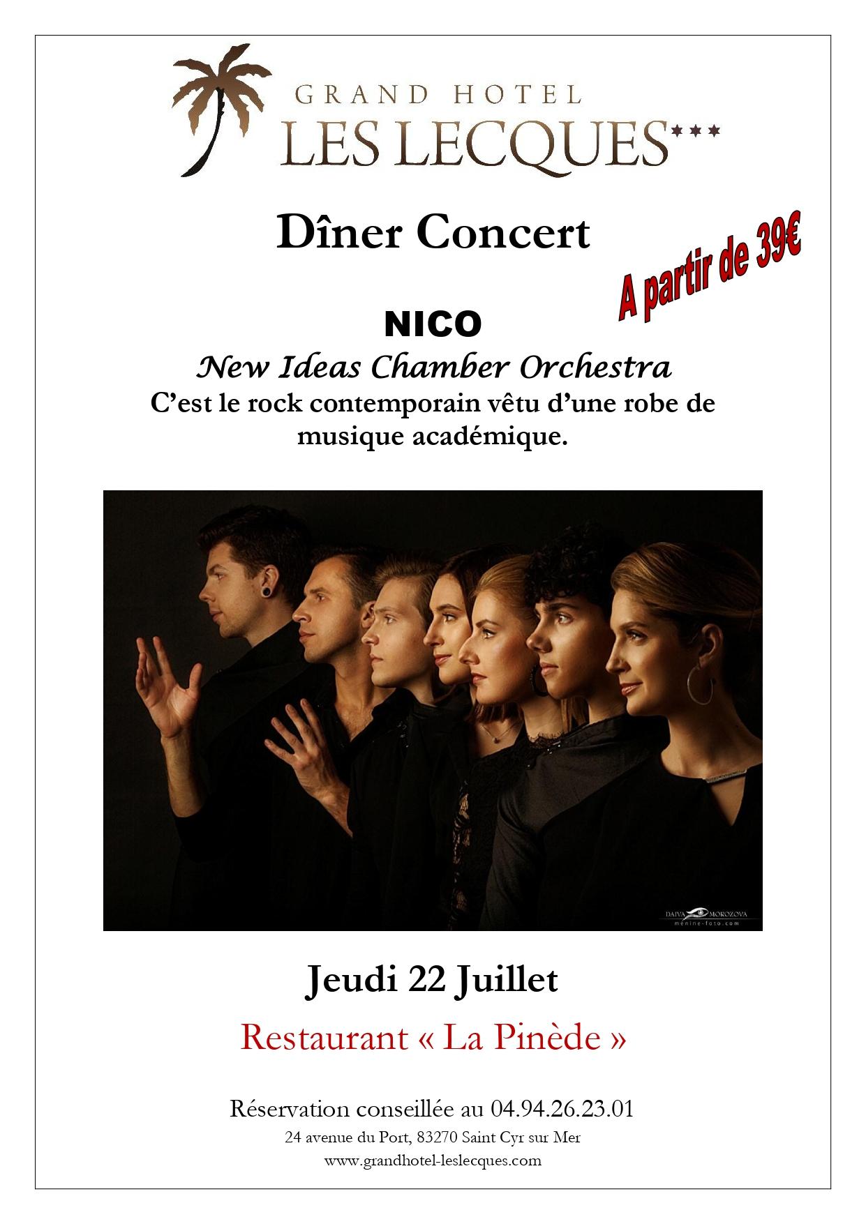 Diner Concert Jeudi 22 Juillet